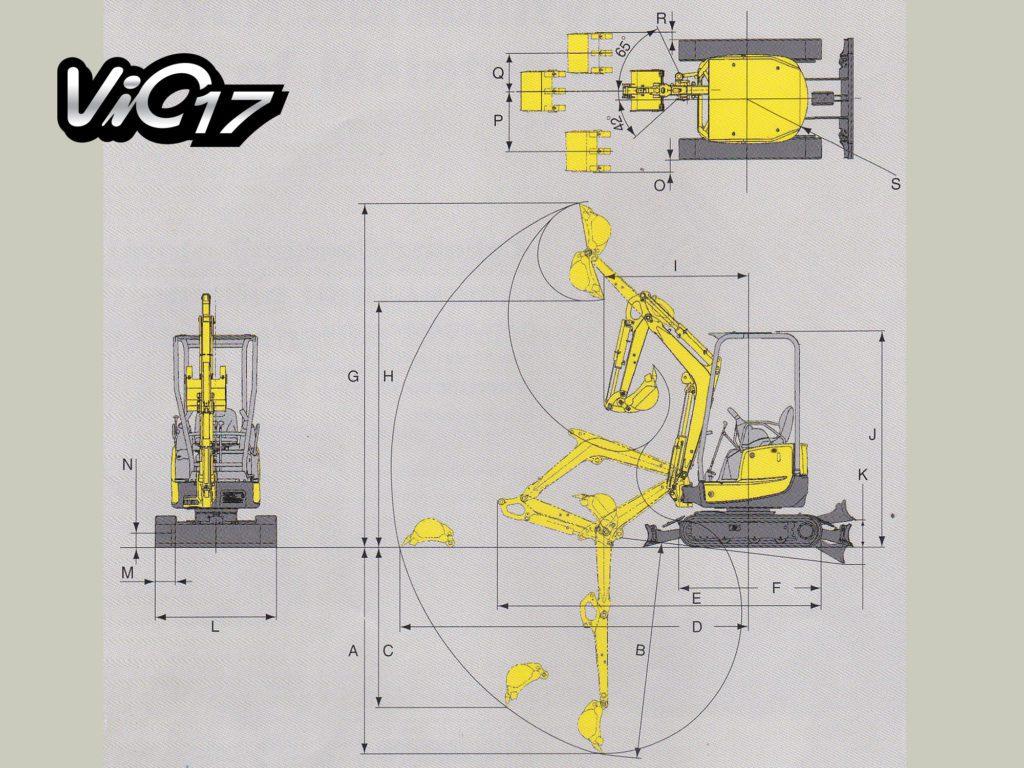 สัดส่วนรถขุดยันม่าร์ ViO17 (ยันม่าร์จันทบุรี)